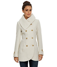Off White Winter Coat - Coat Nj