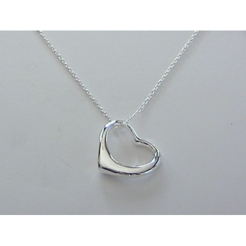Tiffany inspired floating heart necklace aloadofball Images
